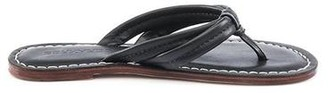 Bernardo Miami Black Leather Flip Flop