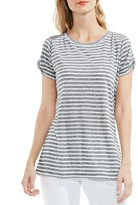 Vince Camuto Striped Twist-Sleeve Tee
