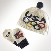 Olympic Games Hat & Mitten Set