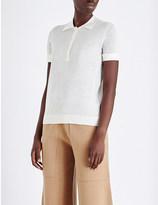 Joseph Silk and cashmere-blend polo shirt