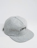 Stussy Strapback Cap Melton Wool Adjustable