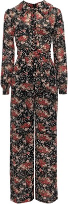 By Ti Mo Bytimo Belted Floral-print Georgette Jumpsuit
