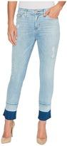 Hudson Zooey Mid-Rise Crop Straight with Released Hem Five-Pocket Jeans in Side Hussel Women's Jeans
