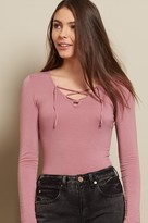 Garage Lace-Up Long Sleeve Top