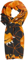 MHI Tiger Cashmere And Wool Blend Scarf