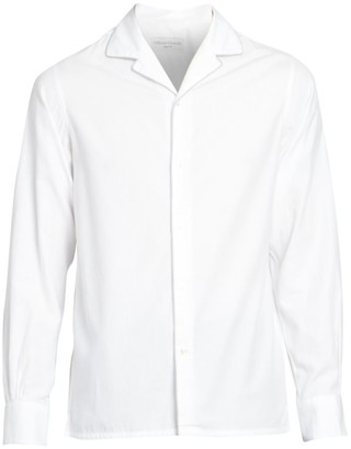 Officine Generale Dario Long-Sleeve Piping Trim Shirt
