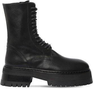 Ann Demeulemeester 50mm Leather Combat Boots
