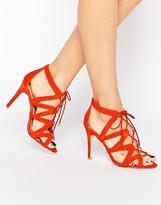 Carvela Luck Ghillie Lace Heeled Sandals