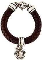 Kieselstein-Cord Leather Frog Charm Bracelet