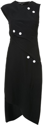 Proenza Schouler Short Spiral Dress with Button Detail