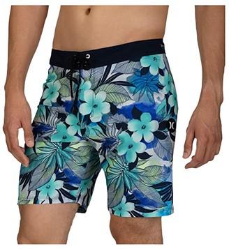 Hurley 18 Phantom Spray Gun Boardshorts (Half Blue) Men's Swimwear