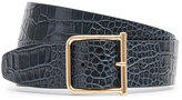 Reiss Otis Croc Wide Leather Belt