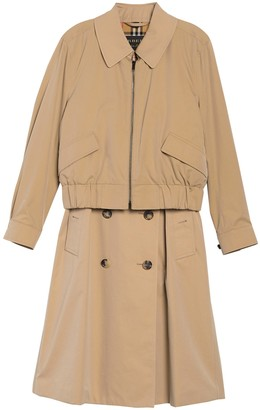 Burberry Layered Bomber & Trench Twofer Jacket