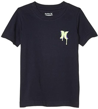 Hurley Crackle Graphic T-Shirt (Little Kids) (Obsidian) Boy's Clothing