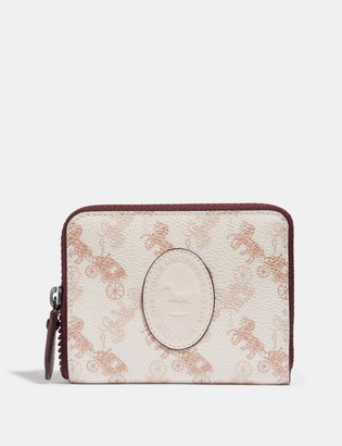 Coach Small Zip Around Wallet With Horse And Carriage Print And Archive Patch
