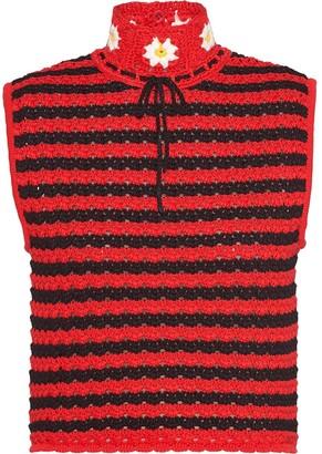 Miu Miu Sleeveless Crochet Top
