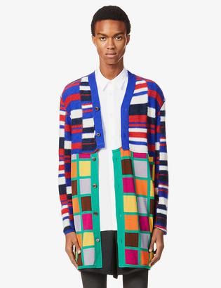Comme des Garçons Homme Plus Intarsia wool-blend cardigan