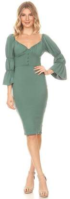 Va Va Voom 3/4 Sleeve Dress