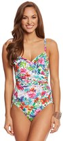 Penbrooke Birds Of Paradise Surplice One Piece Swimsuit 8150426