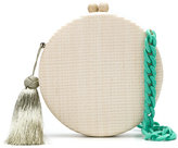 Serpui - round tassel clutch - women - Straw - One Size