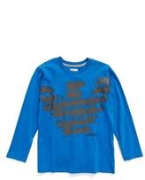 Armani Junior Boy's Logo Print Long Sleeve Crewneck T-Shirt