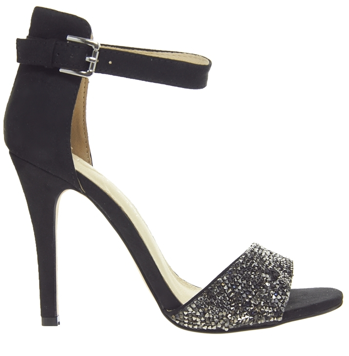 Aldo Dosh Black Heeled Sandals - Black