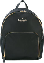 Kate Spade logo plaque backpack - women - Leather/Nylon/Polyester - One Size