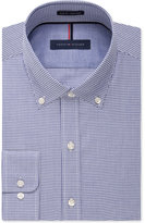 Tommy Hilfiger Slim-Fit Non-Iron Blue Check Dress Shirt
