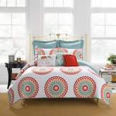 Bed Bath & Beyond AnthologyTM Bungalow Reversible King Quilt in Coral/White