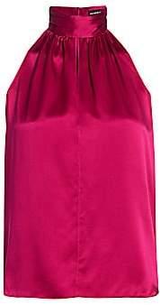 Generation Love Women's Jordyn Stretch-Silk Choker Top