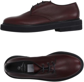 Leather Crown Lace-up shoes