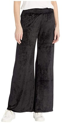 Hard Tail Easy Flare Pants (Black) Women's Casual Pants