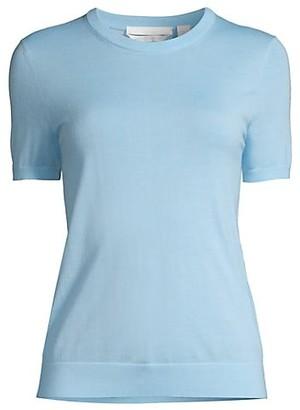 HUGO BOSS Falyssa Superfine Merino Wool Short-Sleeve Top