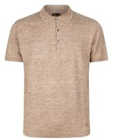Corneliani Linen-Silk Polo Shirt