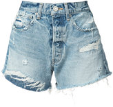 Moussy My Hand Repaired shorts - women - Cotton - 28