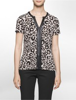Calvin Klein Leopard Short Sleeve Top
