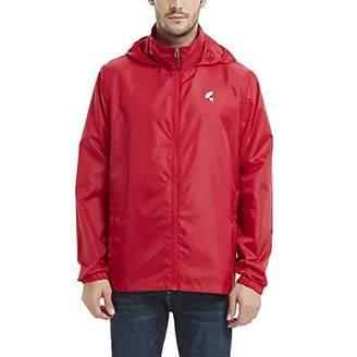 Common District Mens Waterproof Lightweight Rain Jacket Active Outdoor Hooded Raincoat M