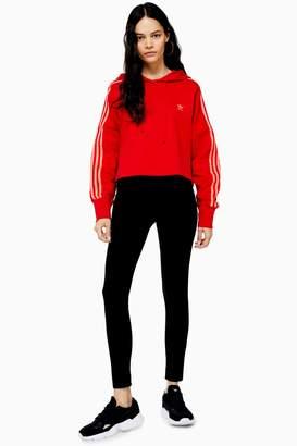 Topshop Womens Logo Elastic Leggings - Black