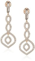 Crislu 18k Rose Gold Plated Art Deco Style Cubic Zirconia Dangle Drop Earrings