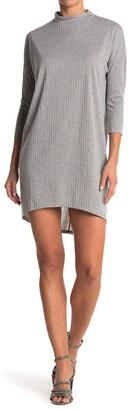 CENY Rib Knit Mock Neck Dress