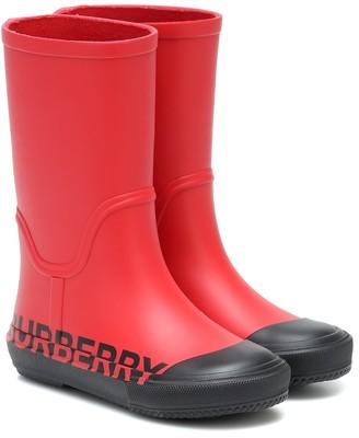 BURBERRY KIDS Rubber rain boots