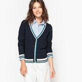 MADEMOISELLE R Openwork Cardigan with Stripes