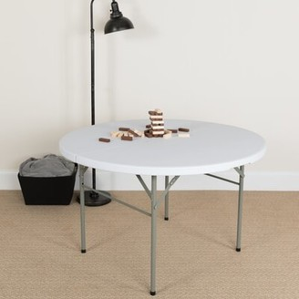 "Flash Furniture Bi-Fold Granite Plastic 48"" Circular Folding Table"