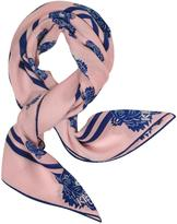 Kenzo Tiger Printed Cotton and Silk Square Scarf