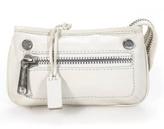 Gryson Ivory Leather Small Silver Tone Hardware Clutch Handbag NEW