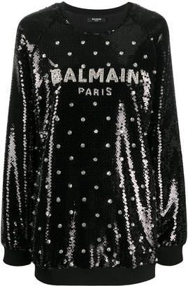 Balmain Sequin Embellished Sweatshirt