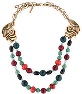 Oscar de la Renta Multi-Stone Bead Necklace