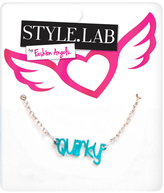 Fashion Angels Blue & Silvertone 'Quirky' Pendant Necklace