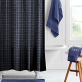 Boxter Plaid Shower Curtain, Navy