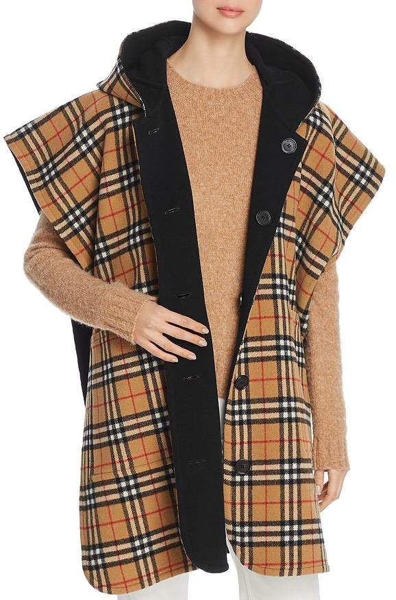 Burberry Hopefield Reversible Hooded Cape